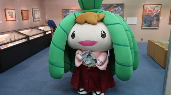 ちま吉、子ども達に大津祭をお知らせ!